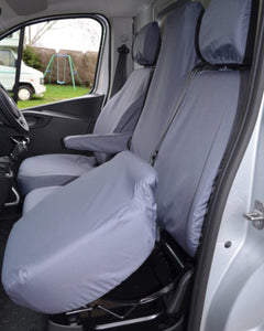 Tailored Grey Seat Covers for Renault Trafic Folding Seat