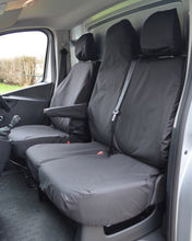 Load image into Gallery viewer, Renault Trafic Van Tailored Seat Covers - Black