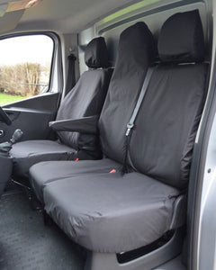 Renault Trafic Van Tailored Seat Covers - Black