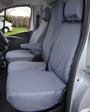 Load image into Gallery viewer, Renault Trafic Grey Tailored Waterproof Seat Covers