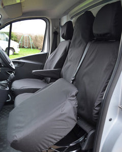 Black Tailored Seat Covers for Renault Trafic