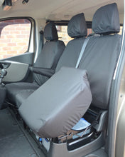 Load image into Gallery viewer, Front Black Seat Covers for Renault Trafic Van