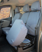 Load image into Gallery viewer, Waterproof Seat Covers for Renault Trafic Van in Grey