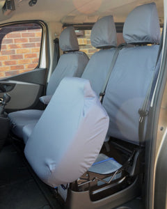Waterproof Seat Covers for Renault Trafic Van in Grey