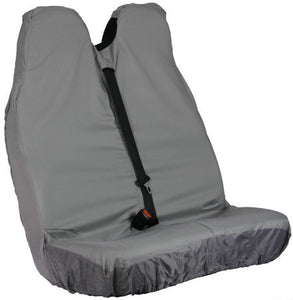 Van Passenger Double Seat Cover in Grey