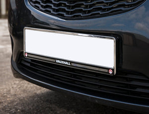 Vauxhall Front Number Plate Holder with Chrome Surround