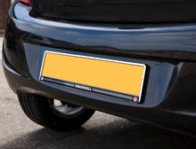 Load image into Gallery viewer, Chrome Rear Number Plate Surround with Vauxhall logo