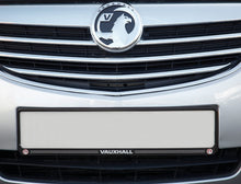 Load image into Gallery viewer, Black Front Number Plate Surround with Vauxhall logo