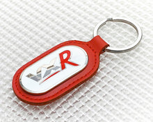 Load image into Gallery viewer, Vauxhall VXR Keyring with Red Leather Fob
