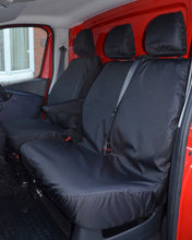 Load image into Gallery viewer, Vauxhall Vivaro Tailored Front Seat Covers in Black