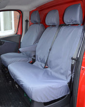 Load image into Gallery viewer, Vauxhall Vivaro Tailored Front Seat Covers in Grey