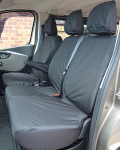 Vauxhall Vivaro Van Seat Covers in Black