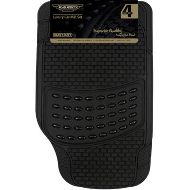 Car Mats - Black Rubber and PVC
