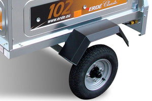 Car Trailer Steel Wheels and Mudguards