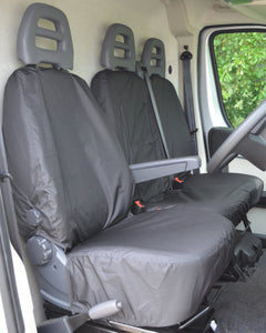 Citroen Relay Van Drivers Seat Cover in Black