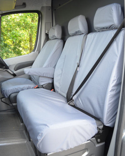 Van Seat Covers in Grey for VW Crafter
