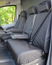 Load image into Gallery viewer, VW Crafter Van Seat Covers - Black