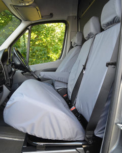 VW Crafter Van Dual Passenger Seat Cover - Grey