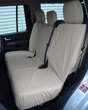 Load image into Gallery viewer, Land Rover Discovery 4 Rear Seat Covers - Cream Beige Sand