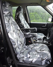 Load image into Gallery viewer, Land Rover Discovery 4 Tailored Waterproof Seat Covers - Grey Camo