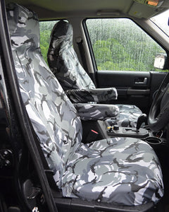 Land Rover Discovery 4 Tailored Waterproof Seat Covers - Grey Camo