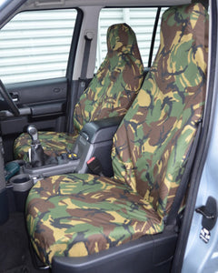 Discovery 4 Green Camo Covers for Front Seats without Armrests