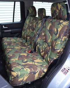 Land Rover Discovery 4 Rear Seat Covers - Green Camouflage