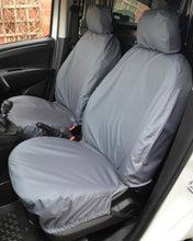 Load image into Gallery viewer, Fiat Doblo van waterproof front seat covers in grey
