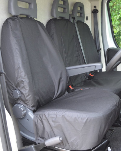 Fiat Ducato Panel Van Front Seat Cover in Black