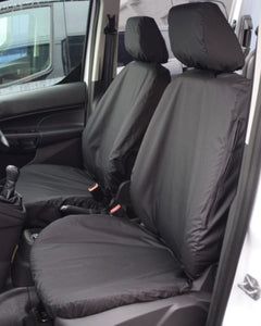 For Ford transit connect Heavy Duty Black Waterproof Car Seat Covers 2 x Fronts