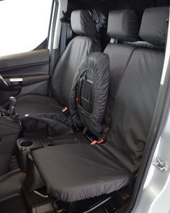 Ford Transit Connect Passenger Flip Up Seat Cover - Black