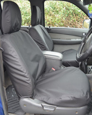Ford Ranger Waterproof Front Seat Covers - Black