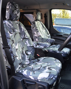 Ford Transit Custom Van Camo Single Front Seat Covers