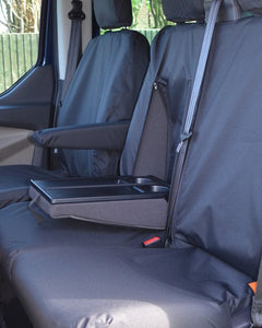 Ford Transit Dual Passenger Van Front Seat Covers in Black
