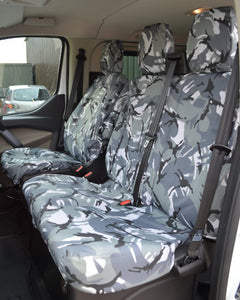 HD GREEN Camo CAMOUFLAGE Waterproof VAN Seat COVERS 2+1 FORD TRANSIT MK8