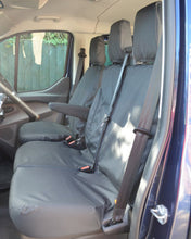 Load image into Gallery viewer, Ford Transit Van Black Dual Front Passenger Seat Covers