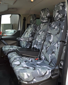 Ford Transit Van Passenger Seat Cover in Grey Camo