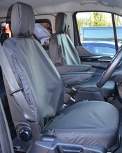 Load image into Gallery viewer, Ford Transit Van Tailored Front Seat Covers in Black