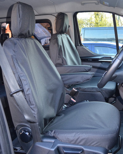 Ford Transit Van Tailored Front Seat Covers in Black