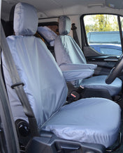 Load image into Gallery viewer, Ford Transit Van Tailored Front Seat Cover in Grey