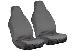 Pair of Grey Waterproof Front Seat Covers