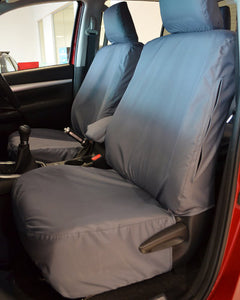 Tailored Front Seat Covers for Toyota Hilux in Grey