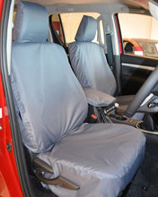 Load image into Gallery viewer, Tailored Grey Front Seat Covers - Toyota Hilux Invincible