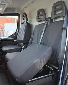 Black Seat Covers - Iveco Daily Van