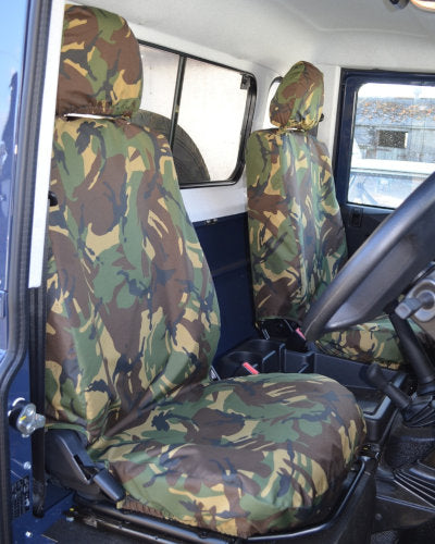 Land Rover Defender Green Camouflage Seat Covers