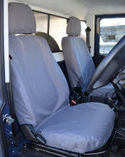 Load image into Gallery viewer, Land Rover Defender Grey Tailored Front Seat Covers