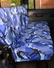 Load image into Gallery viewer, Land Rover Defender Seat Covers - 2nd Row Blue Camo