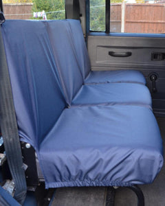 Land Rover Defender Seat Covers - 2nd Row Blue