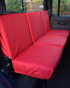 Land Rover Defender Seat Covers - 2nd Row Red