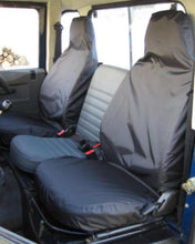 Load image into Gallery viewer, Land Rover Defender Black Seat Covers